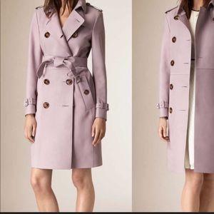 Burberry lamb leather coat, size 8, lavander color